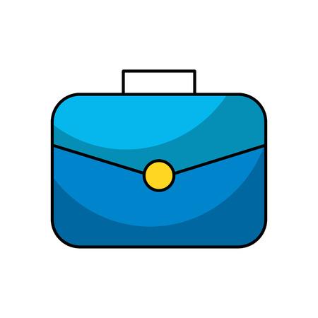 Portfolio briefcase icon isolated Çizim