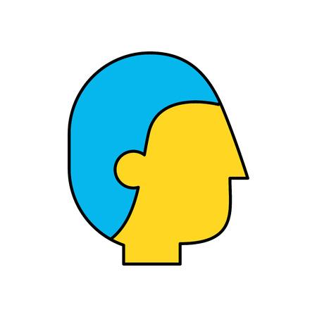 Zakenman profiel avatar pictogram ontwerp geïsoleerd Stock Illustratie