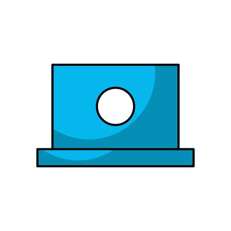 Laptop computer isolated icon  illustration design Illustration