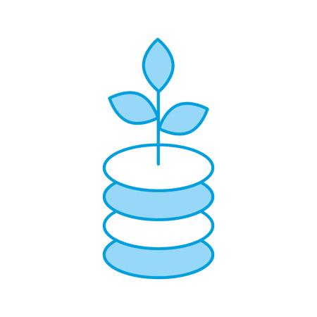 germinación: Diseño aislado planta del ejemplo del vector del icono de la ecología