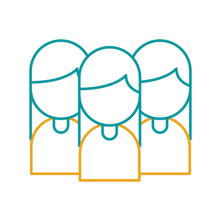teamwork people avatars icon vector illustration design Illustration