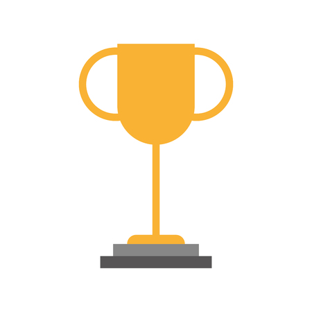 trophy cup isolated icon vector illustration design Çizim