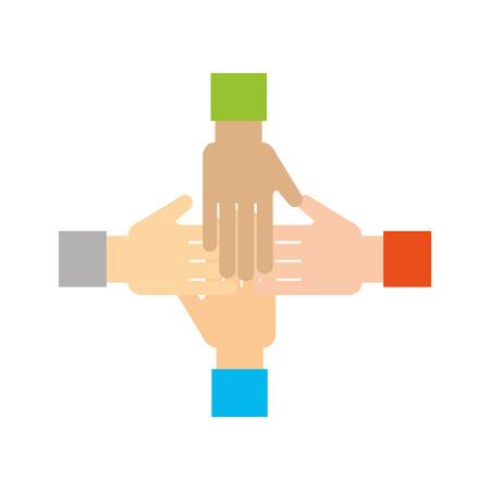 A human hands for teamwork concept icon vector illustration design Illustration