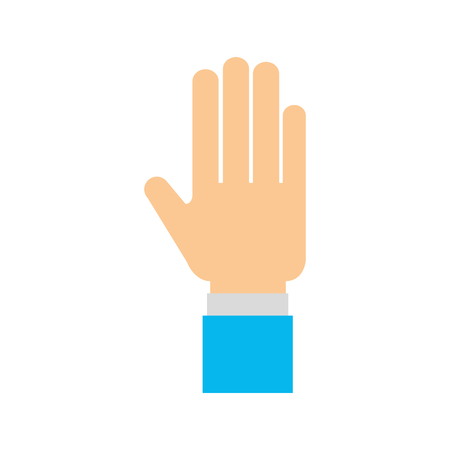 An isolated human hand icon vector illustration design Çizim