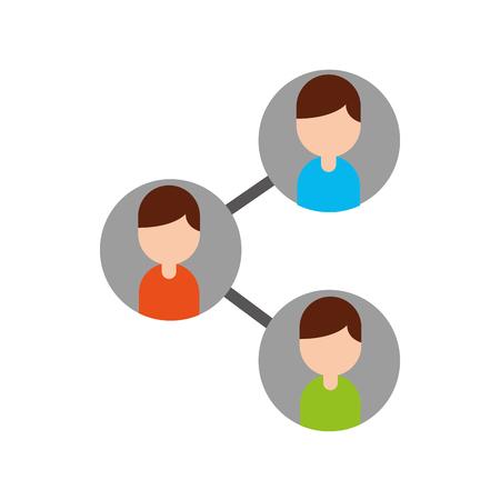 teamwork people avatars network vector illustration design