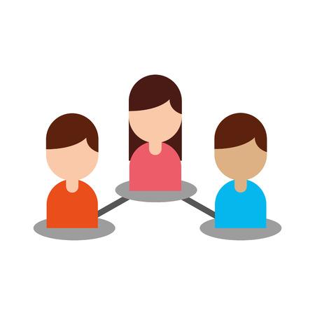 Teamwork concept of avatars people network vector illustration design