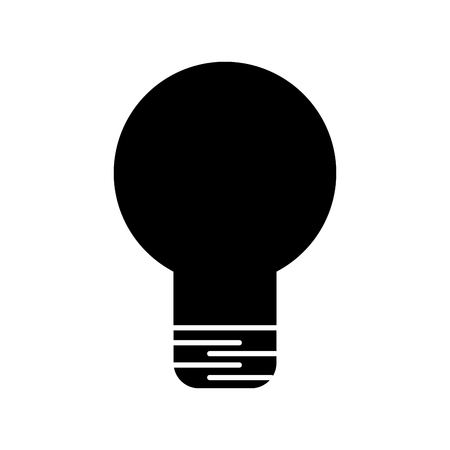 Black silhouette bulb light isolated icon vector illustration design