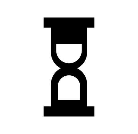 Black silhouette hourglass time conscious concept isolated icon vector illustration design