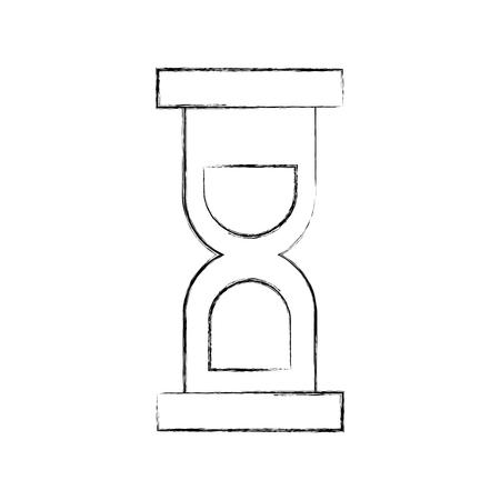 Sablier temps isolé icône du design illustration vectorielle Banque d'images - 84616023