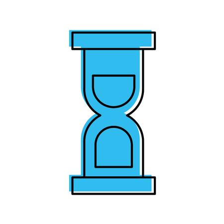 Sablier temps isolé icône du design illustration vectorielle Banque d'images - 84588612