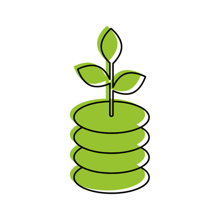 ecology plant isolated icon vector illustration design