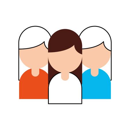 Teamwork people avatars icon vector illustration design