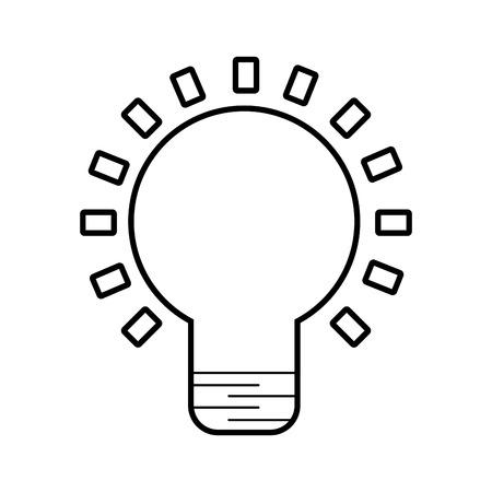 Birne Licht isoliert Symbol Vektor-Illustration , Design , Standard-Bild - 84586243