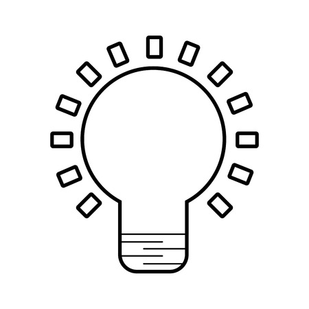 Bulb light isolated icon vector illustration design Banco de Imagens - 84586243