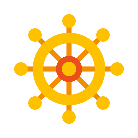 Boat timon isolated icon vector illustration design Ilustração