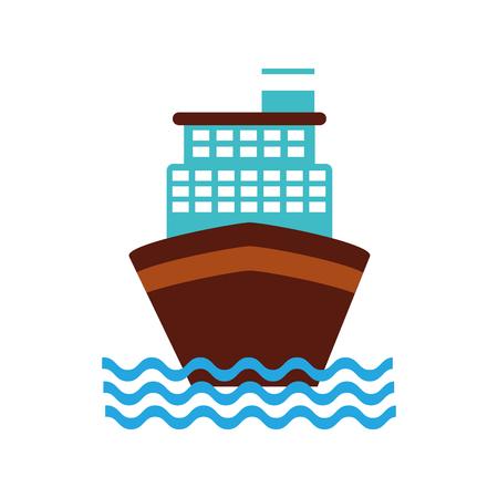 クルーズ船のアイコン ベクトル イラスト デザインを分離しました。