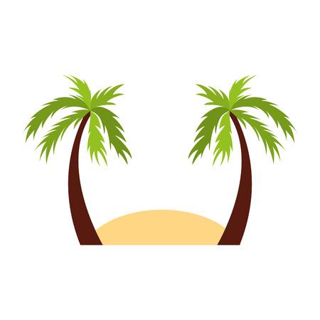 beach landscape isolated icon vector illustration design
