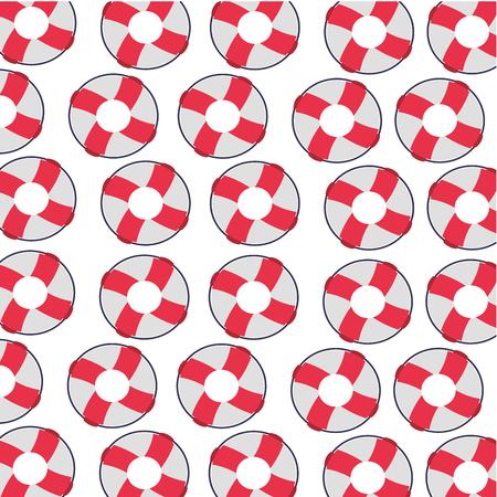 Modello di bagnino galleggiante pattern di sfondo illustrazione vettoriale Archivio Fotografico - 84586522