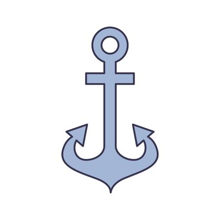 앵커 해양 절연 아이콘 벡터 일러스트 디자인