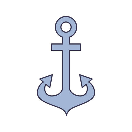 Anker maritime isoliert Symbol Vektor-Illustration , Design , Standard-Bild - 84586524