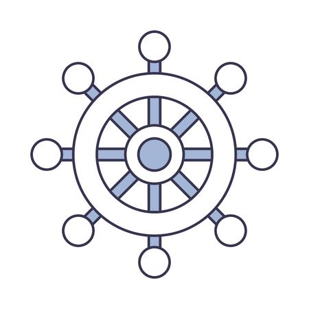 Illustrazione vettoriale icona isolato timone barca Archivio Fotografico - 84586530