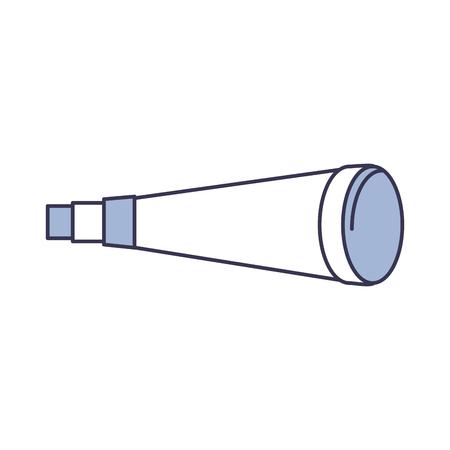 望遠鏡分離されたデバイス アイコン ベクトル イラスト デザイン