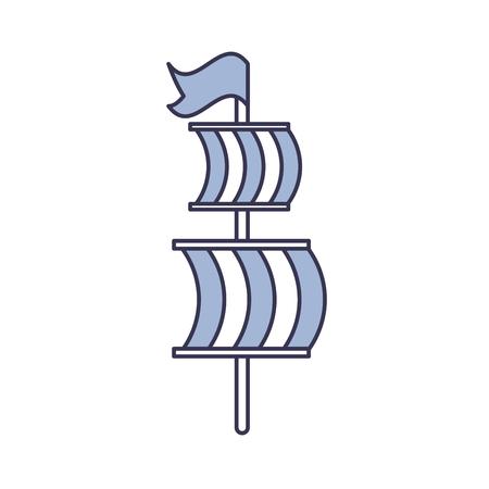 Segelboot isoliert Symbol Vektor-Illustration , Design , Standard-Bild - 84586540