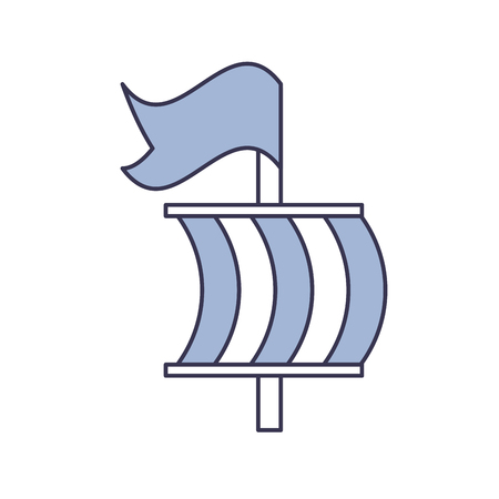 Sailing boat isolated icon vector illustration design Ilustrace