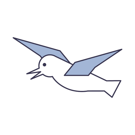 Gull flying isolated icon vector illustration design