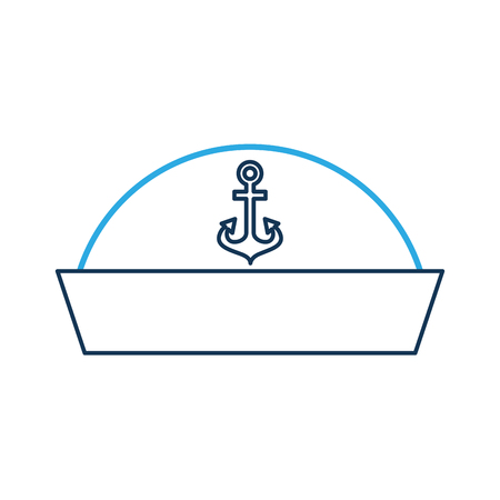 Sailor hat isolated icon illustration design.