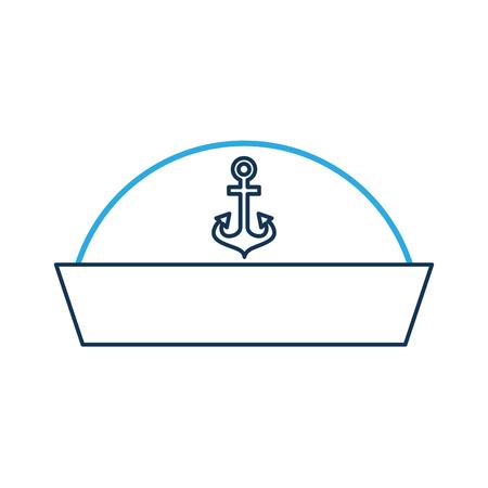 Sailor Hut isoliert Symbol Illustration Design Standard-Bild - 84595541