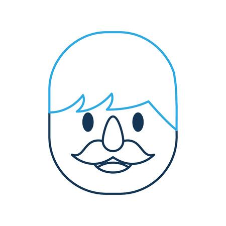 Man avatar character icon vector illustration design