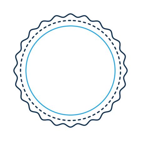 Stamp seal isolated icon illustration design. Ilustração