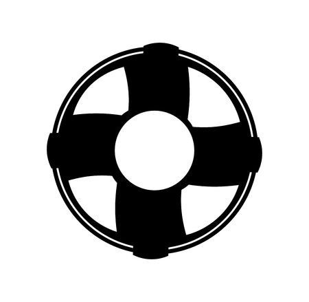 Float lifeguard isolated icon illustration design