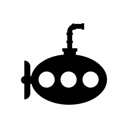 Sea submarine isolated icon illustration design.