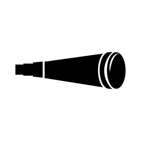 Telescope device isolated icon illustration design.