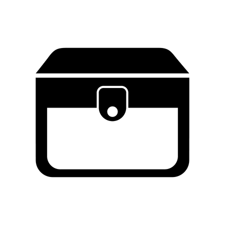 Wooden trunk isolated icon illustration design. Illusztráció