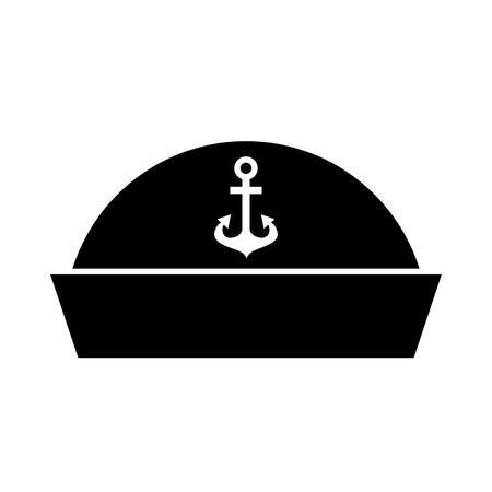 船乗りの帽子アイコン イラスト デザインを分離しました。  イラスト・ベクター素材