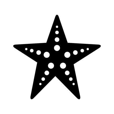 Starfish sea life icon illustration design
