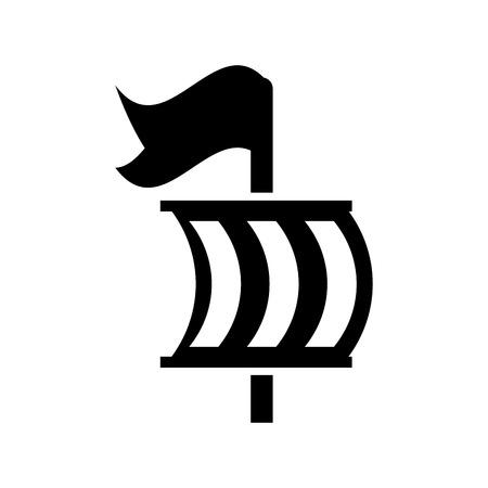 Segelboot isoliert Symbol Illustration Design Standard-Bild - 84587531