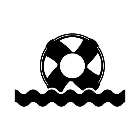 바다 파도 일러스트 디자인과 함께 플로트 근 위 기병 연대
