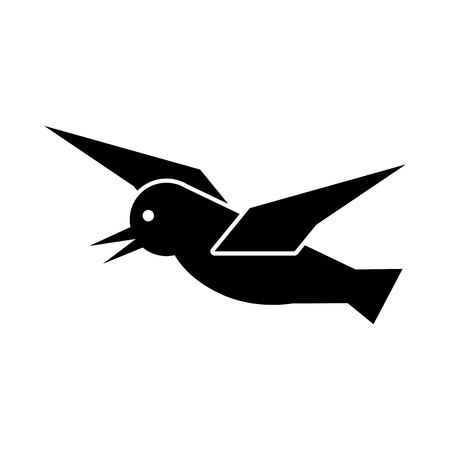 Seagull flying isolated icon illustration design Illustration