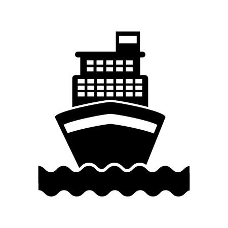 cruise boat isolated icon vector illustration design Иллюстрация