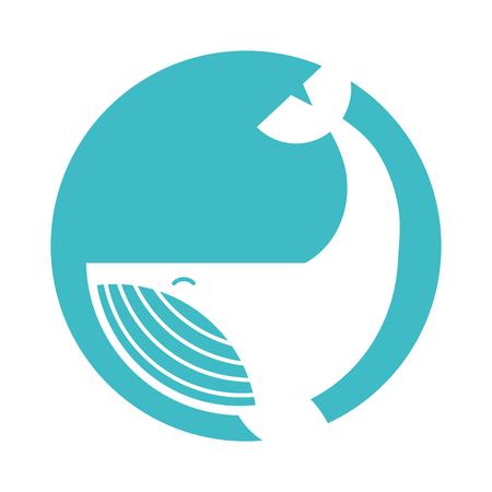 Buckelwal isoliert Symbol Vektor-Illustration Design Standard-Bild - 84616099