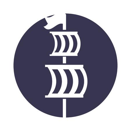 Sailing boat isolated icon illustration design Illusztráció