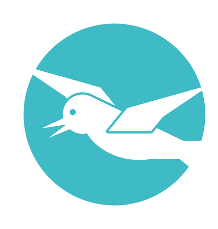 Seagull flying isolated icon illustration design Illustration