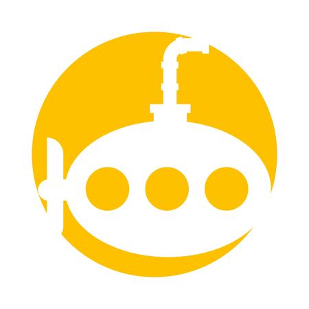 zee onderzeeër geïsoleerd pictogram vector illustratie ontwerp