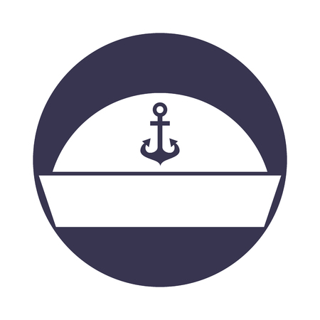 sailor hat isolated icon vector illustration design Illustration