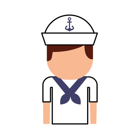 sailor avatar character icon vector illustration design
