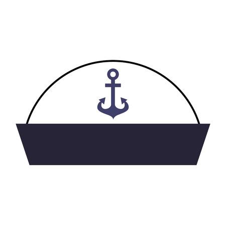 sailor hat isolated icon vector illustration design Иллюстрация
